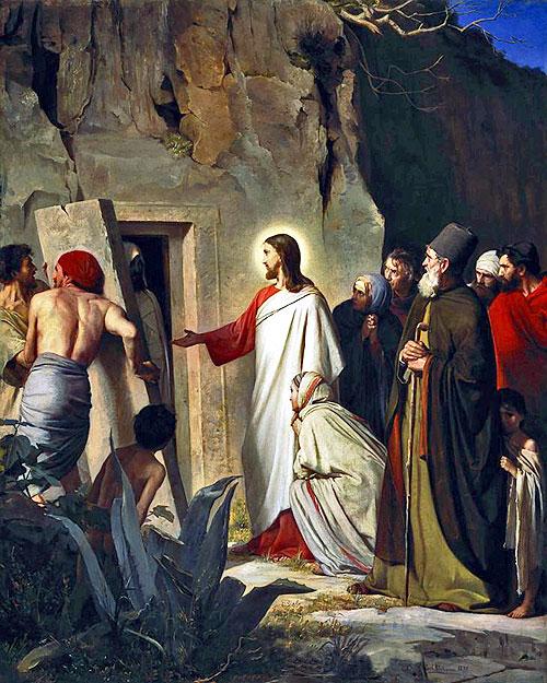 pictures jesus raising dead lazarus
