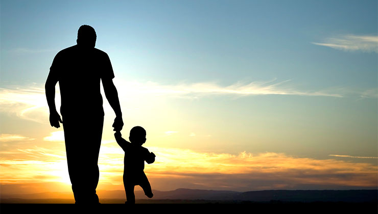 god images silhouet father child