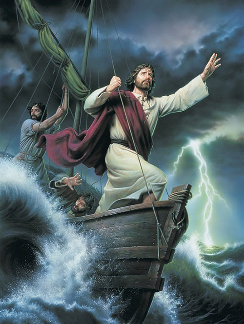 god pictures jesus storm