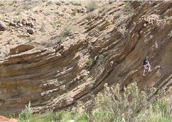 evidence flood rock layers bent