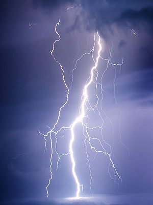 power of god lightning