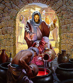 miracles of jesus, turning water into wine
