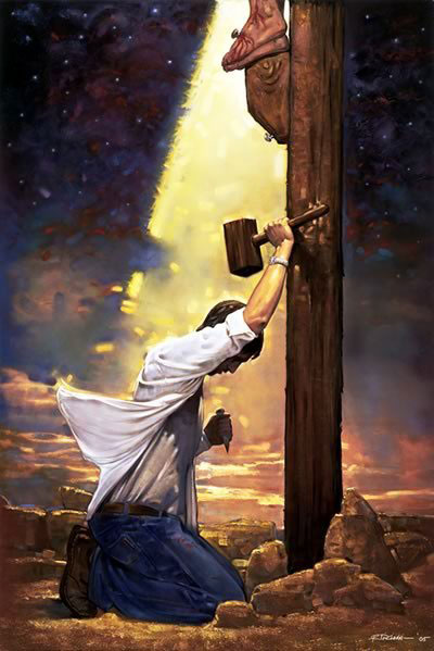 picture jesus cross sinner