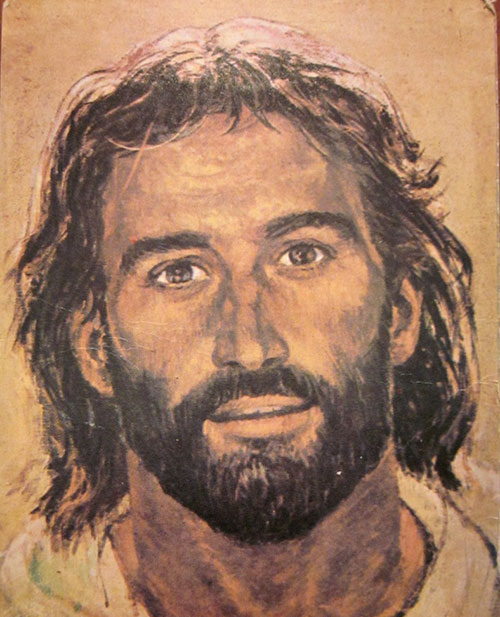 pictures face jesus open
