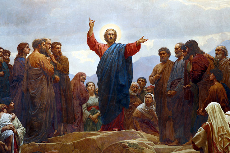 pictures jesus preaching mount