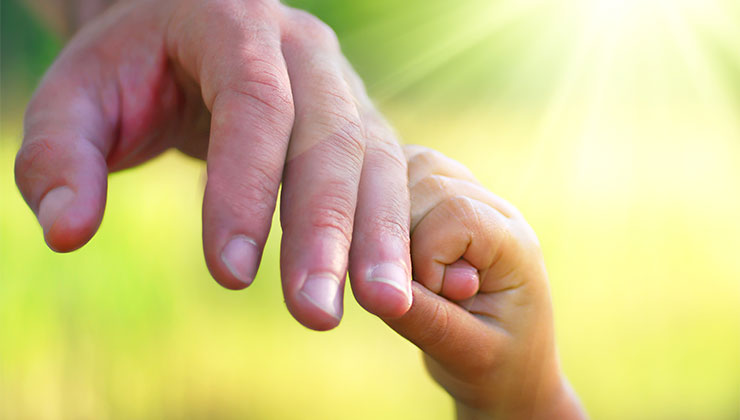 god images hand father child