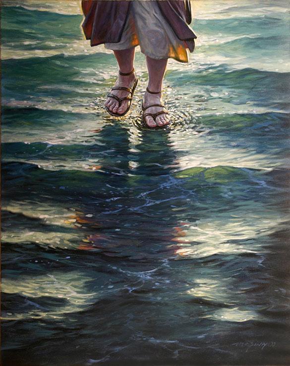 god images jesus water