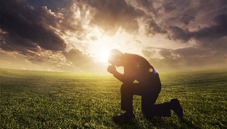 god images photos prayer worship man kneeled sky