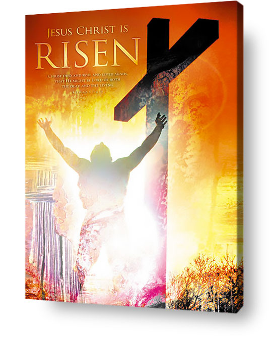 christian wall art decor canvas - Jesus Christ is risen!