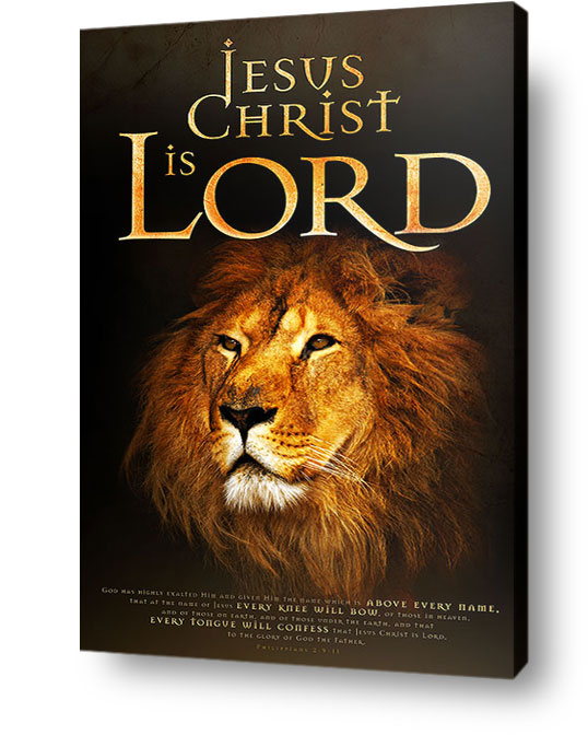 christian wall art decor canvas - Jesus Christ is Lord