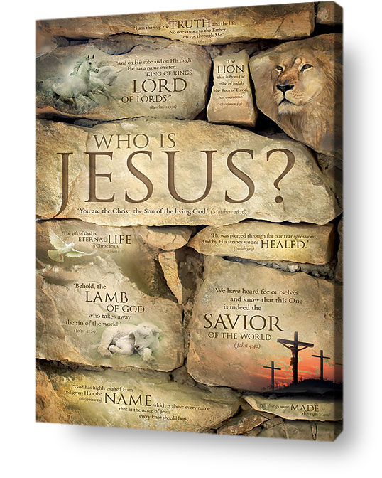 christian wall art decor canvas - Who is Jesus?