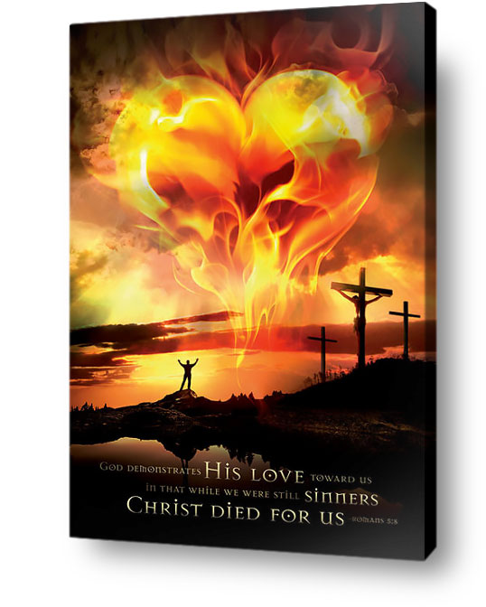 christian wall art decor - Gods love for sinners