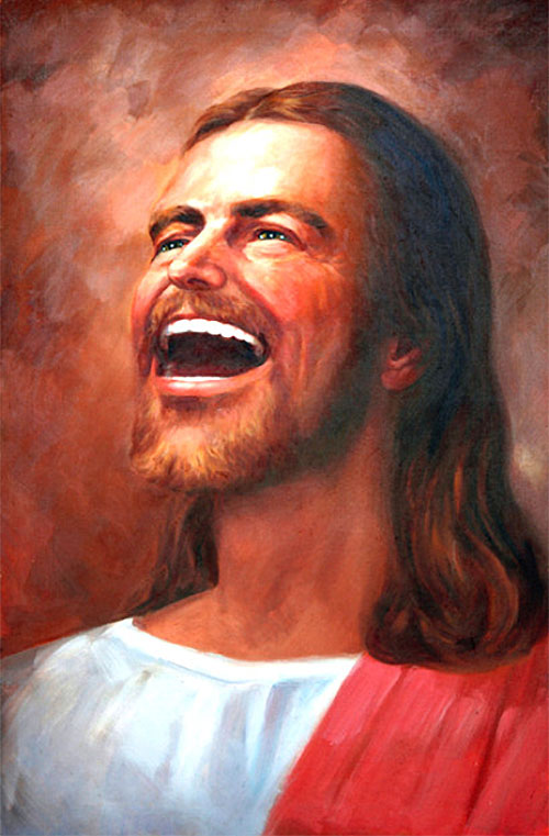 pictures face jesus laughing