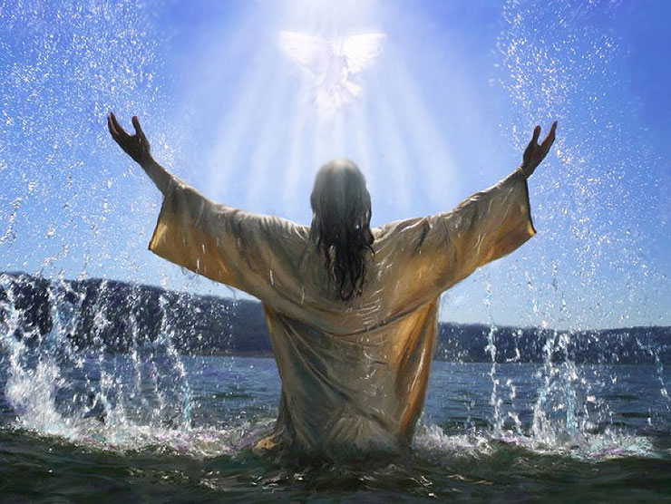 pictures of jesus baptism holy spirit