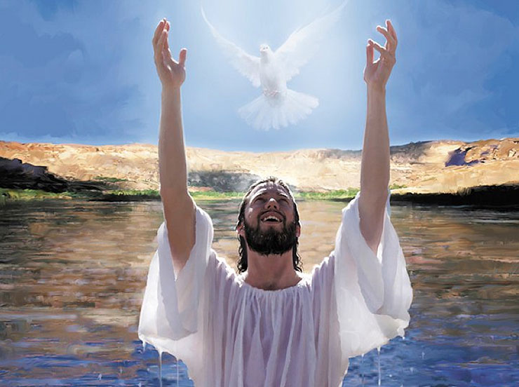 pictures of jesus baptism spirit