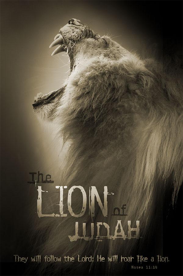 christian poster roaring lion