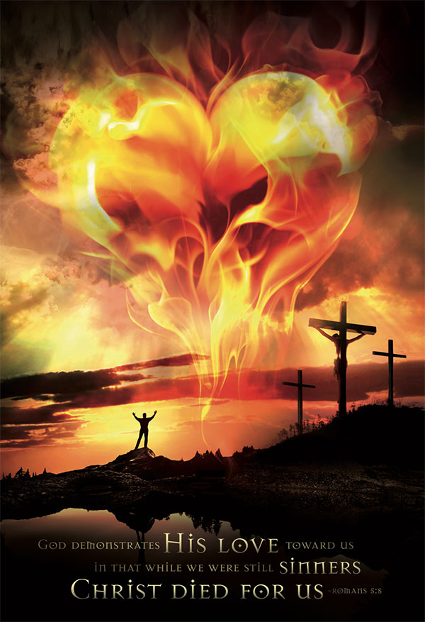 christian posters heart love