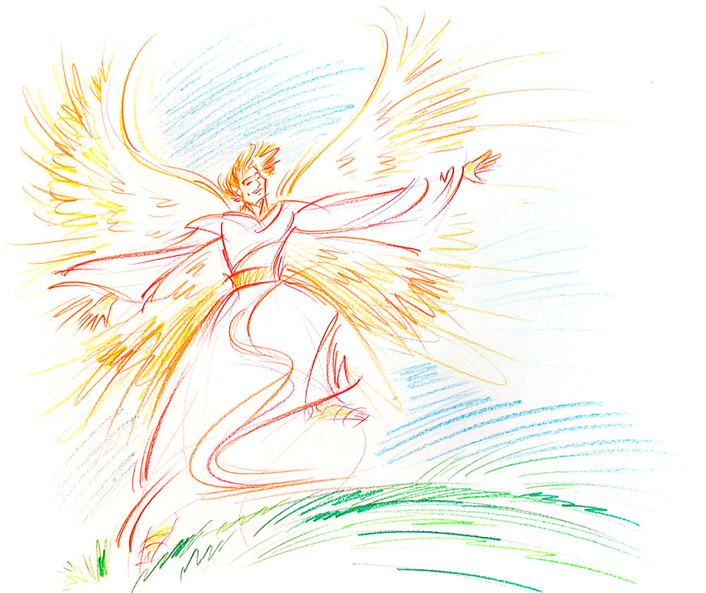angel drawing vision jesus