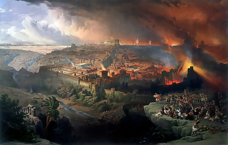 destruction jerusalem 70 ad second coming
