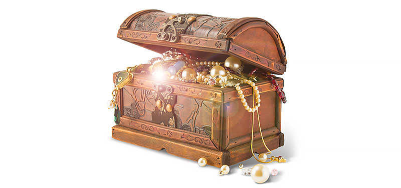 treasure chest symbolizing the lost truth of the second coming