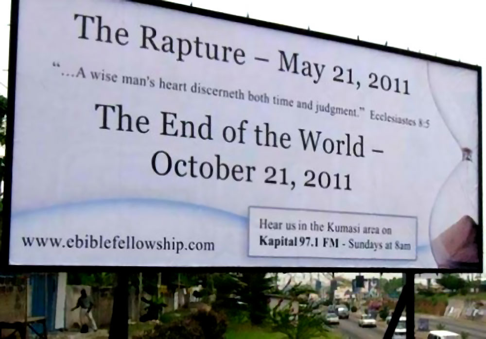 billboard rapture prophecy return christ